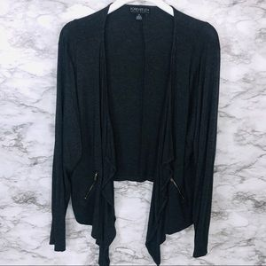 Forever21 Grey Open Cardigan Size 3x